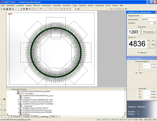 Automated Inspection of Piston Ring Geometries