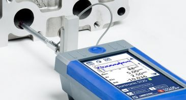 Surtronic surface roughness tester on component